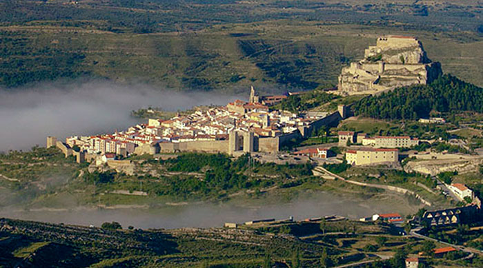 Aerial view of Morella