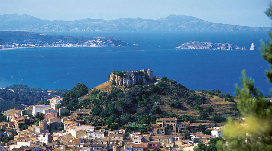 Panoramic view of Begur
