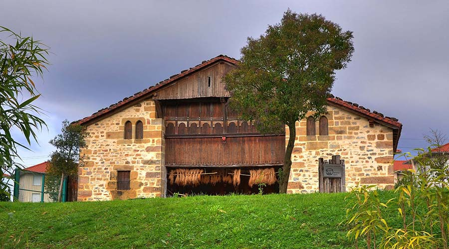 Typical Mungia caserío or farmhouse