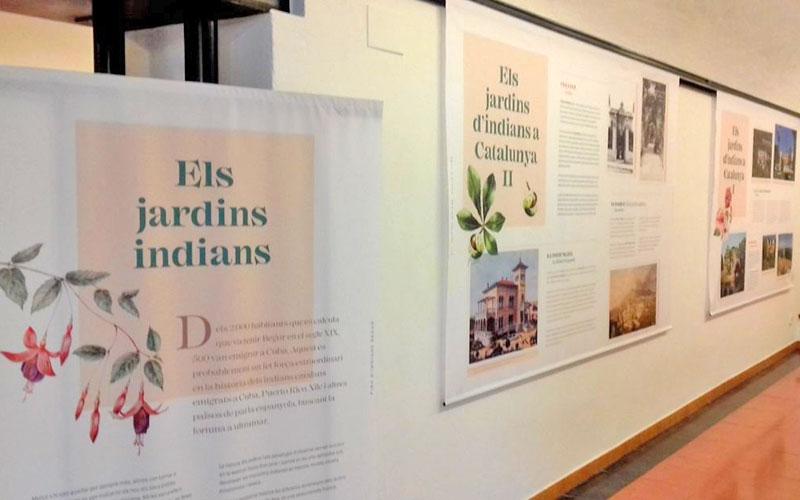 """Exposición """"Els jardins indians"""" de Begur"""